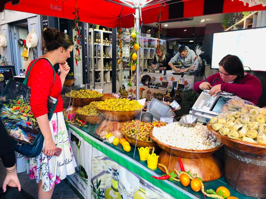 Shopping at French market