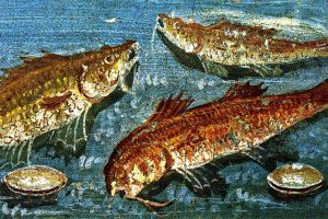 Roman fresco with fish