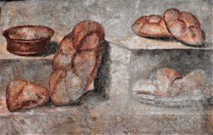 panis quadratus Museo Archaeologico Napoli