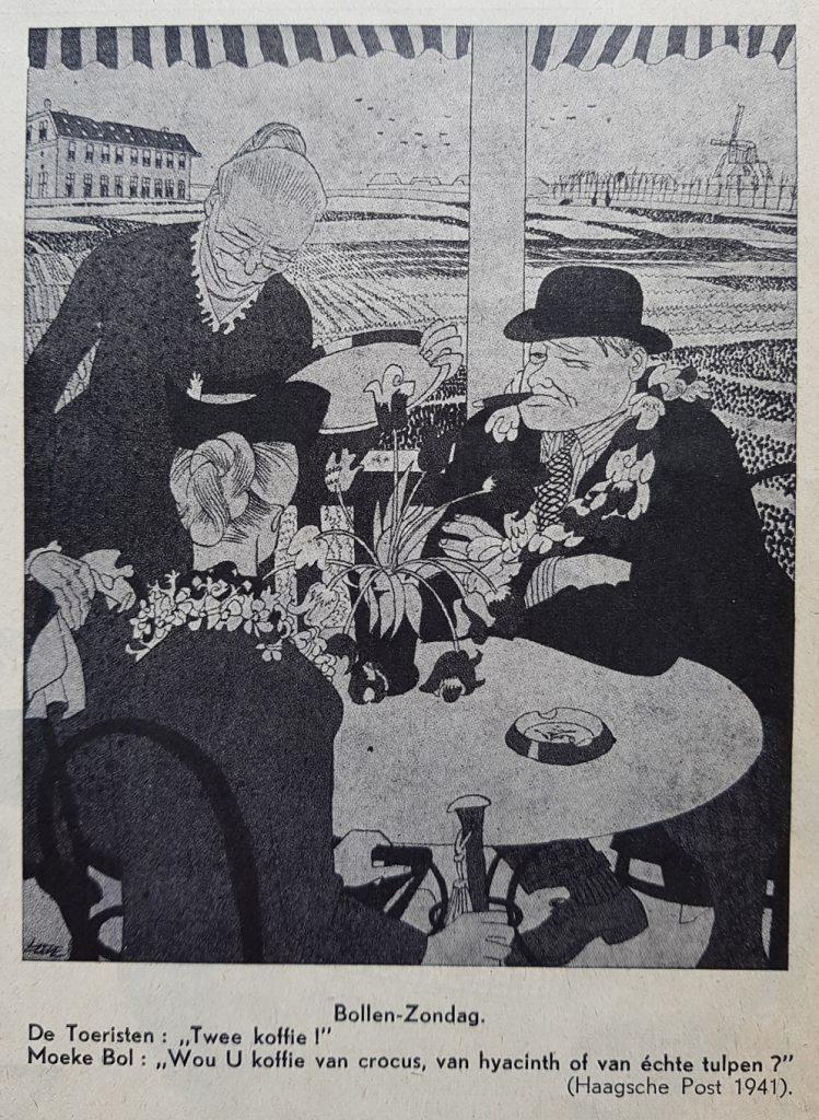 Cartoon from newspaper Haagsche Post, 1941